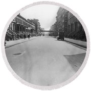 View East On 78th Street Round Beach Towel