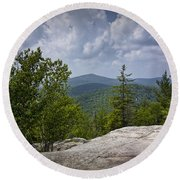 View From A Mountain In A Vermont Round Beach Towel