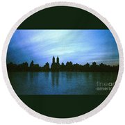 View From Central Park Round Beach Towel
