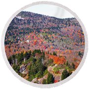 View From Devil's Courthouse 3 Round Beach Towel