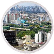 View From Edificio Martinelli 2 - Sao Paulo Round Beach Towel