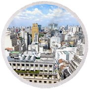 View From Edificio Martinelli - Sao Paulo Round Beach Towel