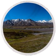 View From Eielson Round Beach Towel