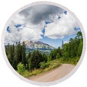 View From Kebler Pass Round Beach Towel