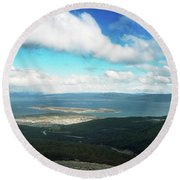 View From Martial Glacier, Ushuaia Round Beach Towel