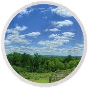 View From Monticello Round Beach Towel