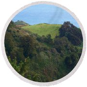 View From Nepenthe In Big Sur Round Beach Towel
