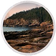 View From Ocean Drive Maine Round Beach Towel