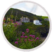 View From Port Isaac Round Beach Towel