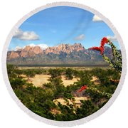 View From Roadrunner Round Beach Towel