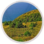 View From Skyline Trail In Cape Breton Highlands Np-ns Round Beach Towel