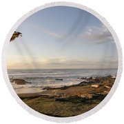 View From The Adobe Round Beach Towel