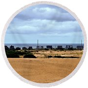 View From The Dunes Round Beach Towel