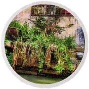 View From The Grand Canal China Round Beach Towel