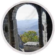View From The Great Wall 1019 Round Beach Towel