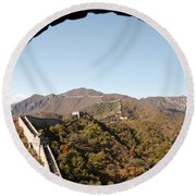 View From The Great Wall 696 Round Beach Towel