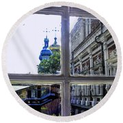 View From The Novodevichy Convent - Russia Round Beach Towel