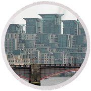 View From Westminster Bridge Round Beach Towel