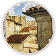 View In Cognac Round Beach Towel