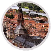 View Of Heidelberg Round Beach Towel