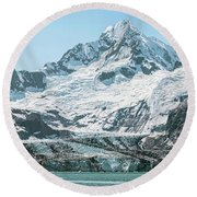 View Of Margerie Glacier In Glacier Bay Round Beach Towel