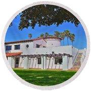 View Of Ole Hanson Beach Club San Clemente Round Beach Towel