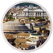 View Of Rome's Rooftops Round Beach Towel