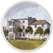 View Of Sir Noel De Carons House, 1809 Wc On Paper Round Beach Towel