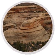 View Of The Canyon Round Beach Towel