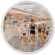 View Of The First Class Swimming Pool Round Beach Towel