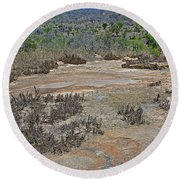 View One From Matekenyane In Kruger National Park-south Africa Round Beach Towel