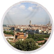 View Over Florence Round Beach Towel