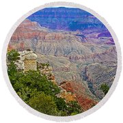 View Seven From Walhalla Overlook On North Rim Of Grand Canyon-arizona Round Beach Towel
