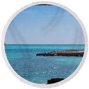 View Through The Walls Of Fort Jefferson Round Beach Towel