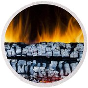 Views From The Fireplace Round Beach Towel
