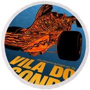 Vila Do Conde Portugal 1972 Grand Prix Round Beach Towel