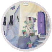 Villa Degli Algeri Tuscany Round Beach Towel