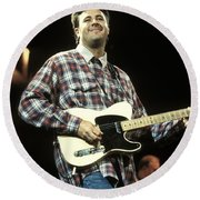 Vince Gill Round Beach Towel