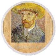 Vincent Van Gogh 1 Round Beach Towel