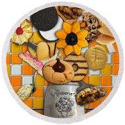 Vincent's Sunflower Cookie Jar Round Beach Towel