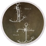 Vintage 1902 Anchor Patent Round Beach Towel