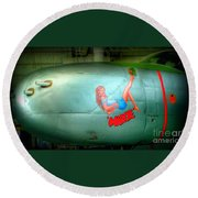 Vintage Airplane Margie Round Beach Towel