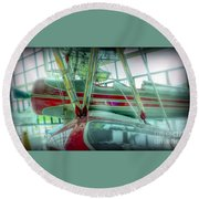 Vintage Airplane Two Round Beach Towel