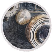 Vintage Argus C3 35mm Film Camera Round Beach Towel