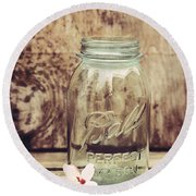 Vintage Ball Mason Jar Round Beach Towel
