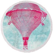 Vintage Balloon Round Beach Towel