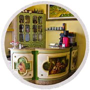 Vintage Bar - Hotel Subasio - Assisi Italy Round Beach Towel