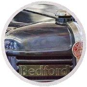 Vintage Bedford Truck Round Beach Towel