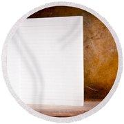 Vintage Blank Notepad Round Beach Towel