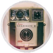 Vintage Brownie Starmite Camera Round Beach Towel